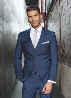 2016 New Custom 3 Piece Sim Fit Blue BestMan Groomsman Men's Wedding/Prom Suits #Handmade #Suits