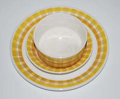 Inger Waage for Stavangerflint Sonny Color Shapes, Colour, Stavanger, Scandinavian, Pottery, Plates, Dining, Tableware, China