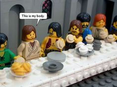 @Shelley Parker Herke smith Re-Telling the Bible in LEGO #legodesigns #legocreations trendhunter.com