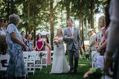 father walking bride down the aisle wedding ceremony portrait by Matt Shumate Photography at the Evergreen Gardens in Ferndale WA Wedding Shoot, Wedding Ceremony, Evergreen Garden, Garden Weddings, Wedding Portraits, Father, Walking, Gardens, Bride