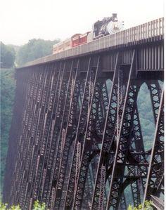 Knox & Kane Railroad, Pennsylvania. I've actually been on their open car train rides.