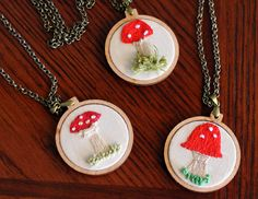 OK, where do I get a little tiny embroidery hoop to put on a necklace!