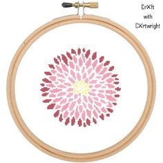 Cross stitch pattern Chrysanthemum flower £3.60 by CraftwithCartwright
