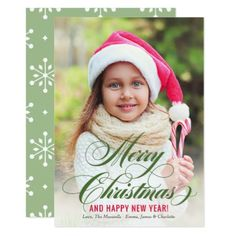 #Merry Christmas | Holiday Photo Card - #Xmas #ChristmasEve Christmas Eve #Christmas #merry #xmas #family #kids #gifts #holidays #Santa