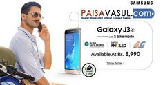 Snapdeal Offer: Samsung Galaxy J3 Available at Rs.8,990  http://www.paisavasul.com/code/snapdeal-offer-samsung-galaxy-j3-available-at-rs-8990