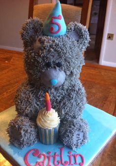 Me to you teddy bear cake
