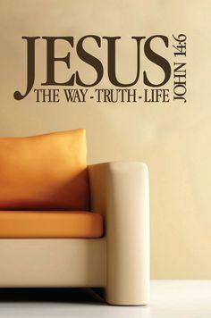 Bible+Verse+Vinyl+Wall+Art | Scripture wall decorVinyl bible verse Jesus The by WildEyesSigns