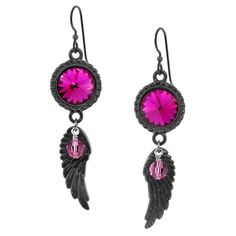 My favorite earring inspiration! Although, I would make them with sapphire crystals instead of the pink :)