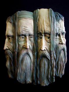 Тhe 4 Аpostles  Year: 2006 Dimensions: 45 * 60 cm. Material: clay, angola, glaze