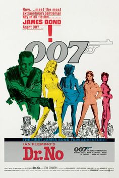 James Bond - Dr. No Poster by Anonymous at King & McGaw