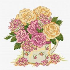 LJT020 Floral Delight | Lesley Teare Needlework and Cross Stitch Chart Designs
