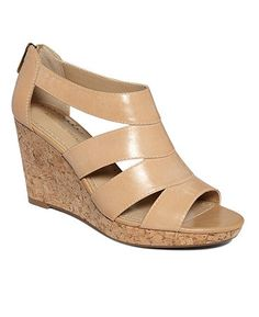 Adrienne Vittadini Shoes, Cate Wedge Sandals - These are super cute! I just found these at TJ Maxx at a great price too :)