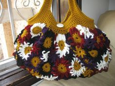 Crocheted Flower Purse by Meladora | Crocheting Pattern free crochet purse and bag patterns to download and crochet