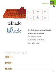 método das 28 palavras fichas - Pesquisa Google Material Didático, Teaching, Writing, Education, Words, School, Manual, 1, Julia