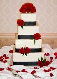 Image result for 2 tier square cake