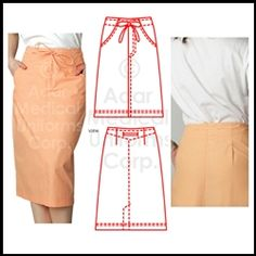 Adar Medical 707 - 2-Pocket Drawstring Scrub Skirt Scrub Skirts, Nursing Uniforms, Scrubs, Work Wear, Parachute Pants, Swim, Medical, Tech, Pocket