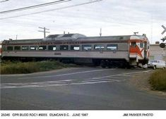 Canadian Railiners: CPR Budd Car RDC1 #9055 at Duncan BC June 1967