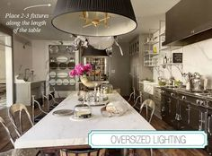 La Dolce Vita: Dissecting the Details: Glamorous Kitchens: large eat in table a MUST