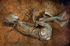 The Tollund man, shown above, is another fantastic example of what ancient Europeans may have looked like. This naturally mummified corpse was dressed only in a pointed cap and belt when discovered in a peat bog in Denmark in 1952. The Tollund Man is believed to be over 2000 year old from the Pre-Roman Iron Age in Scandinavia.