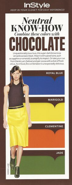 Neutral Know-How: Chocolate #instyle
