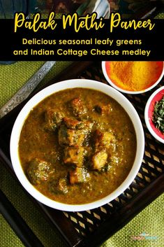 Methi Palak Paneer | Saag Paneer | Palak Chaman is rich and creamy side dish recipe, which perfectly fits with roti and rice.