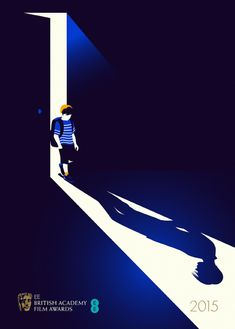 Illustrator Malika Favre created posters for BAFTA-nominated films that cleverly show plot lines in shadows. Pictured: Boyhood