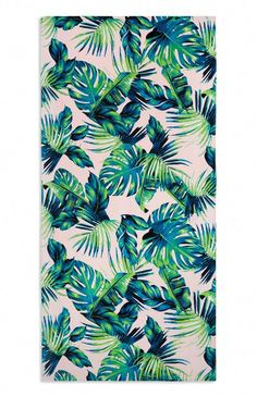 Tropical palm print beach towel from Primark! Tropical Wallpaper, Beach Wallpaper, Bedroom Wallpaper, Mobile Wallpaper, Wallpaper Quotes, Tropical Bedrooms, Tropical Bathroom, Wall Stencil Patterns, Print Patterns