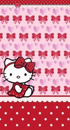 iPhone Wall: Valentine's Day tjn Wallpaper Iphone Liebe, Valentines Wallpaper Iphone, Cute Wallpaper For Phone, Hello Kitty Wallpaper, Pink Wallpaper Iphone, Cat Valentine, Valentines For Kids, Valentine Nails, Valentine Ideas