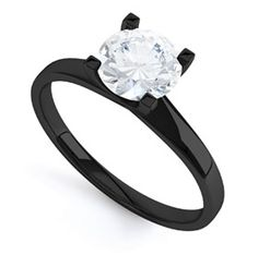 Different and I kinda like it! the wedding band could potentially be one of those that goes on both sides, in black with little diamonds on it. Plus Ry wants a black wedding band so we could match!