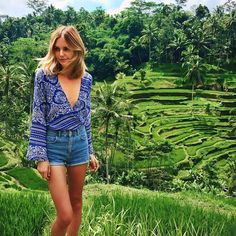 Pin for Later: 19 Snaps That Serve Up Ultimate Outfit Inspiration For Your Next Vacation Bali When you're on vacation, cutoffs go with everything — even that gorgeous boho top with a plunging neckline you initially pictured paired with heels.