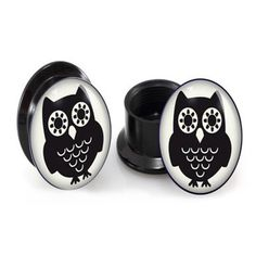 *Twit twoo* *Twit twoo*! Get yourself some of these cute black & white owl plugs: