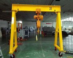 Portable Gantry Crane - Ellsen Provides Quality and Reliable Gantry Crane Metal Projects, Welding Projects, Welding Shop, Metal Welding, Cranes For Sale, Crane Mobile, Crane Lift, Types Of Welding, Soldering