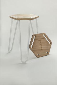 DESIGN SAVVY - visualgraphic: triHEX stool by Heidi Jalkh