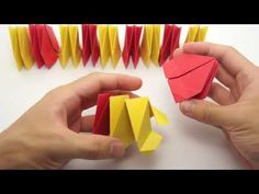 Origami infinity flower - YouTube