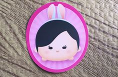 Personalized Easter sticker Tsum Tsum themed