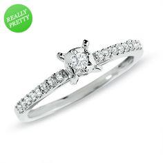 1/5 CT. T.W. Diamond Promise Ring in 10K White Gold