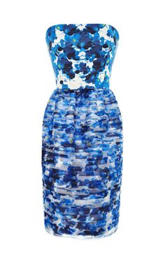 Printed Tiered Organza Dress by Prabal Gurung