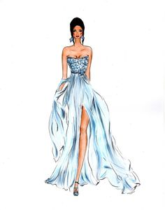 Fashion illustration by Olivia Elery you can use copic markers to illustrate your own fashion concepts Fashion Drawing Dresses, Fashion Illustration Dresses, Fashion Illustrations, Fashion Design Drawings, Fashion Sketches, Fashion Art, Fashion Models, Manequin, Illustration Mode