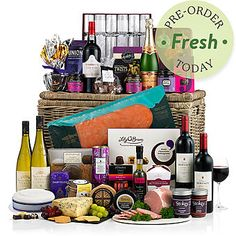 The Decadence Christmas Hamper Farmhouse Biscuits, Traditional Hampers, Food Hampers, Fresh Food Delivery, Christmas Hamper, French Wine, Christmas Pudding, Bauble, Prosecco