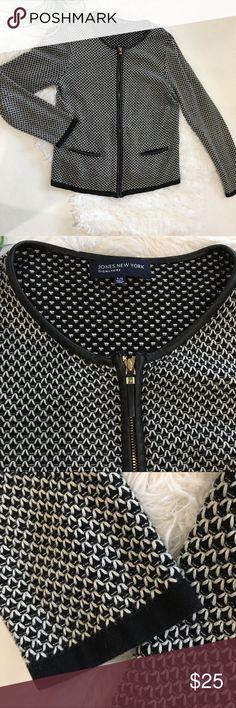781ced3e244f Jones New York Signature sweater zipper jacket