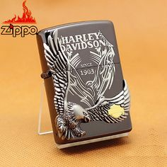 Zippo Harley Davidson Limited Big Eagle Metal Black Ion Silver HDP-18
