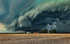 Storm clouds with lightning. All Nature, Science And Nature, Amazing Nature, Natural Phenomena, Natural Disasters, Grand Prairie Texas, 1366x768 Wallpaper, Storm Front, Wild Weather