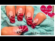 DIVA TIPS - Exotic Freehand French Tips Using Nail Art Striper Paint - Easy Tutorial - YouTube