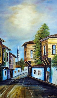 tr-art- Havva Yilmaz – Hobbies paining body for kids and adult Hobbies And Interests, Pour Painting, Acrylic Pouring, Landscape Art, Old Houses, Home Art, Watercolor, The Originals, House Styles