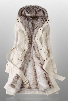 I found 'Beige Parka with Faux Fur Inner' on Wish, check it out!