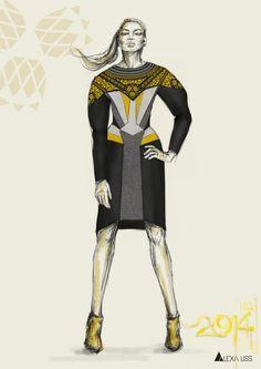 Leather Dress - alexa liss