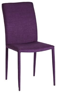 Moe's Home Collection Mena Dining Chair, Purple, Set of 2 by Moe's Home Collection. $224.77. Chairs are 35.4-inch tall by 23.4-inch deep by 17.7-inch wide. Stainless steel frame covered with purple poly-blend fabric. Armless chairs have a comfortable webbed seat and tall back. Set of 2 Mena Dining Chairs add a splash of color to any room where additional seating is needed. No assembly required. Perfect chair to add a splash of color to any setting. Moe's home collection is a ...