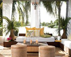 Tropical patio. LOVE