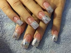 Gel nails with gelish and foils