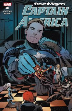 Captain America: Steve Rogers With Steve searching desperately for Kobik, he reaches out to a hero that can help — Avril Kincaid, the all-new Quasar! A threat from beyond the stars pushes an already-weakened S. to the brink. Marvel Vs, Marvel Comics, Capitan America Marvel, Marvel Captain America, Steve Rogers, Comic Book Artists, Comic Books Art, Captain Hydra, Foto Cartoon